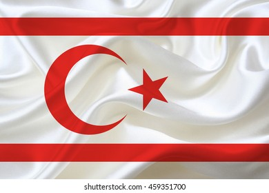 Waving Flag of Turkish Republic of Northern Cyprus
