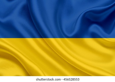 Waving flag of Ukraine