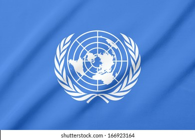 Waving flag of the United Nations