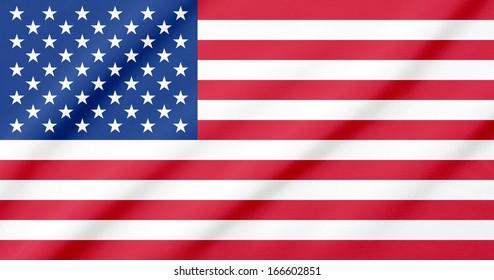 Waving flag of the USA