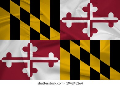 Waving Maryland State Flag