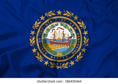 Waving New Hampshire State Flag