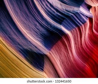 Waving Sandstone Flag, Upper Antelope Canyon, Arizona