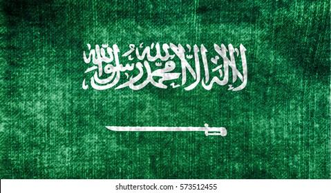 Waving saudi arabia Flag