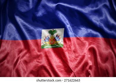 waving and shining haitian flag