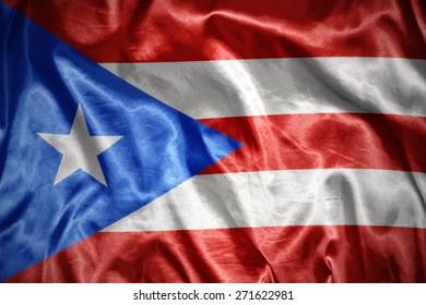 waving and shining puerto rico flag