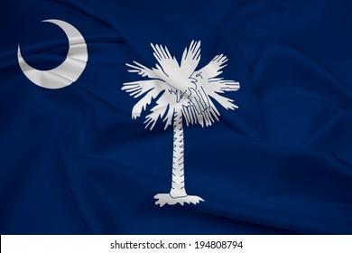 Waving South Carolina State Flag