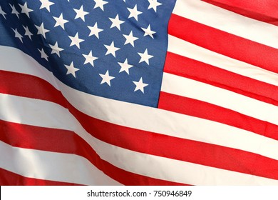 Waving star and stripes American flag