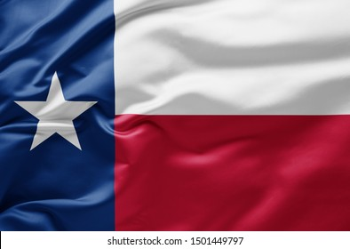 Waving state flag of Texas - United States of America