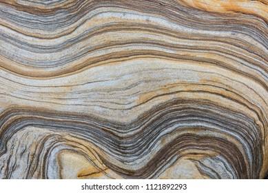 Wavy Banded sandstone strata