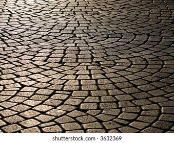 wavy brick walkway #2