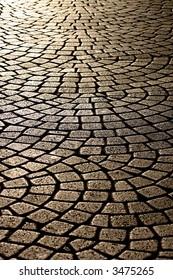 wavy brick walkway