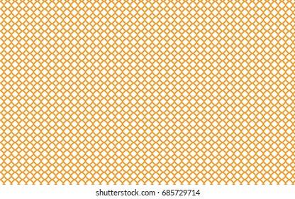 Wavy butterscotch lines cross across a white background.