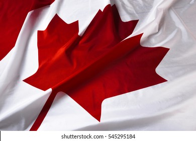 wavy Canadian flag