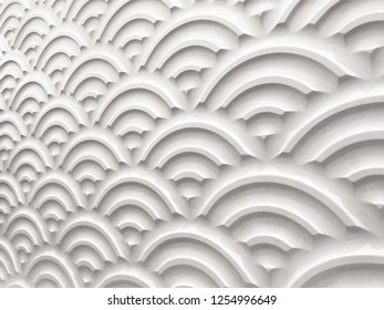 wavy emboss pattern for wall decoration white color, background of white emboss 3d design pattern, beautiful emboss pattern texture