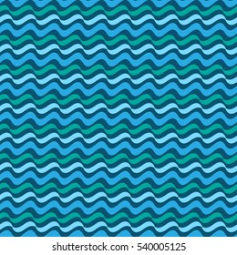 Wavy line abstract seamless pattern. Fashion graphic background design. Abstract texture. Colorful template for prints, textiles, wrapping, wallpaper, website etc. illustration
