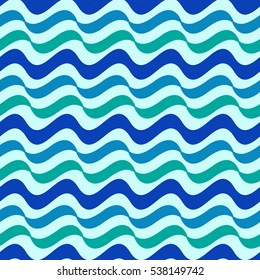 Wavy line color seamless pattern. Fashion graphic background design. Modern stylish abstract texture. Colorful template for prints, textiles, wrapping, wallpaper, website etc. illustration