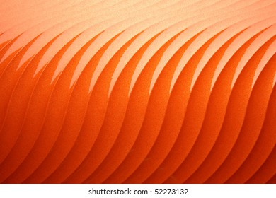 Wavy plastic surface orange