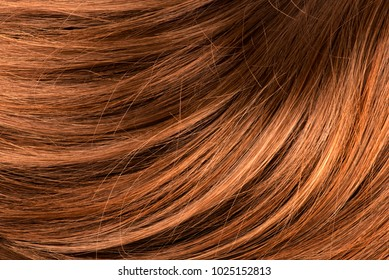 Wavy red human hair background