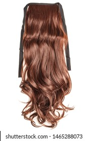 Wavy Ribbon Auburn Synthetic Ponytail Hair Extension