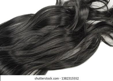 Wavy Ribbon Dark Black Synthetic Ponytail Hair Extension