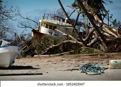 Wawa Bar in rubble after Hurricane Eta Path