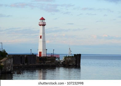 Wawatam Lighthouse in St. Ignace Michigan on Lake Huron