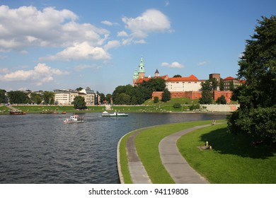 Wawel castle in Cracow, Poland. Eastern Europe