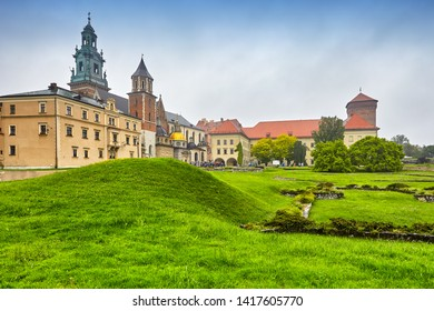 The Wawel castle famous landmark in Krakow Poland