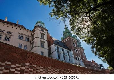 Wawel Castle in Krakow (Cracow) in Poland