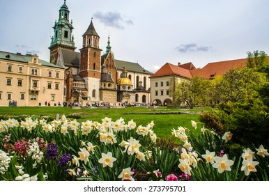 Wawel Castle and Royal Cathedral in the springtime - Krakow, Poland