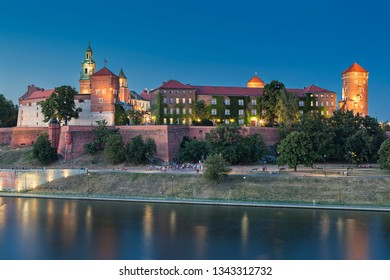 Wawel Castle and Vistula river in Krakow (Cracow) in Poland