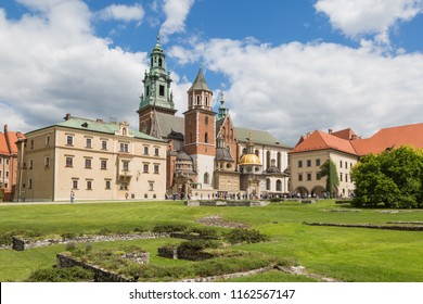 Wawel cathedra next to the castle in Krakow, Poland