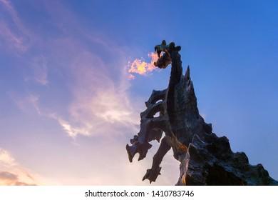 Wawel dragon in Krakow Poland, Europe.