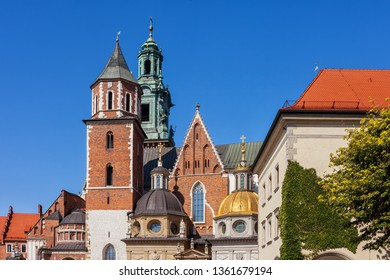 Wawel Royal Cathedral of St Stanislaus B. M. and St Wenceslaus M. in Krakow, Poland, Romanesque, Gothic, Baroque and Renaissance architecture.