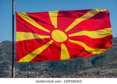 Wawing flag of Macedonia
