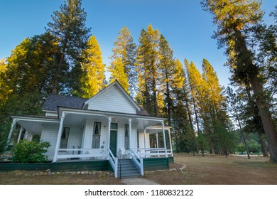 Wawona, California - October, 08, 2014 - Beautiful view of the historic Wawona Hotel, located in Yosemite National Park is part of the American National Historic Heritage.