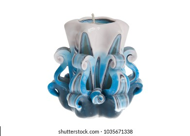 wax candle isolated on white