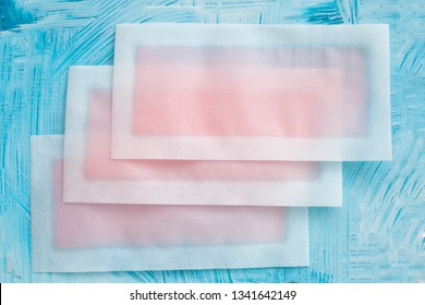 Wax strips on a blue background