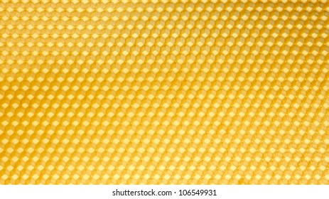 Wax template for honeycomb as a periodic structure