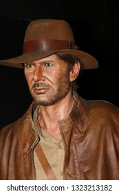 Waxwork of Harrison Ford as Indiana Jones. Taken at Wax Museum in San Antonio,TX on September 25, 2006.