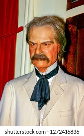 Waxwork of Mark Twain taken at Musee Conti Wax Museum in New Orleans, LA on June 18, 2005.
