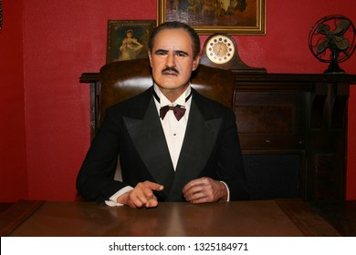 Waxwork of Marlon Brando as Godfather Don Vito Corleone. Taken at Wax Museum in San Antonio, TX on September 25, 2006.