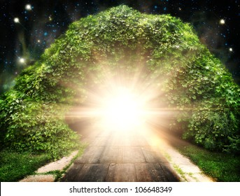Way to another world, abstract natural backgrounds