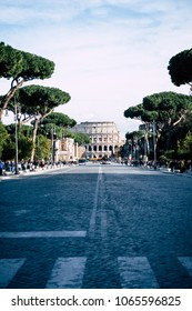 The way to Colosseum, Rome, Italy