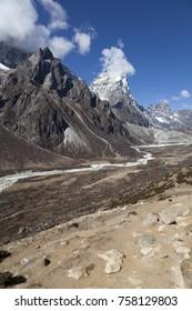 Way to Everest base camp,Sagarmatha national park, Nepalese himalayas