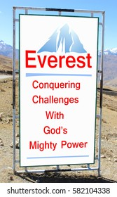 Way to Everest. Long Description. For travelers or visitors.