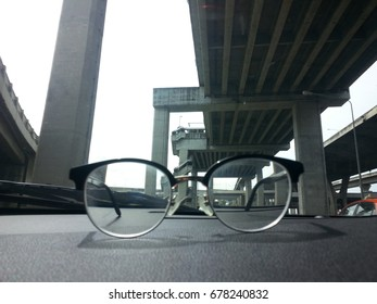 the way of glasses on the road