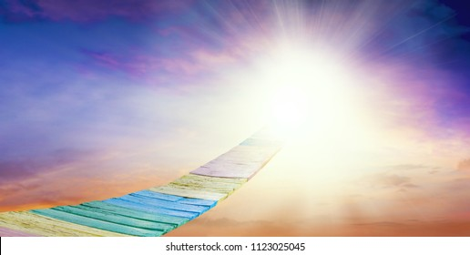 Way to heaven . Abstract big explosion. background sky at sunset and dawn .