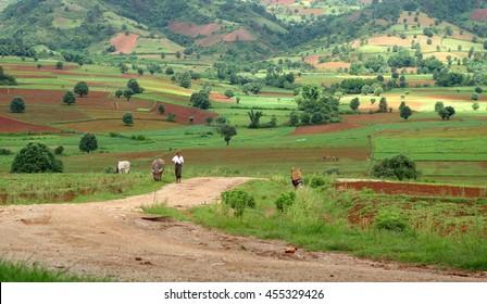 Way Kalaw to Inle Lake, Myanmar